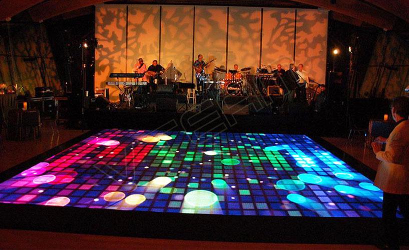 威特姆LED地砖显示屏效果