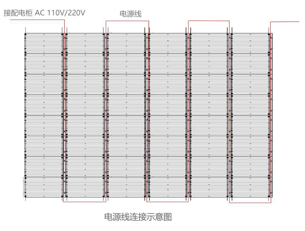 led透明屏电源线走线方式