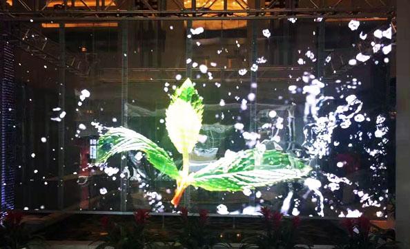 全彩LED透明屏效果圖